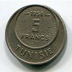ТУНИС - 5 ФРАНКОВ 1954