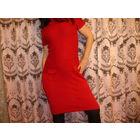 Платье красное р-р 46