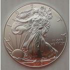 1 доллар 2015 г. США. Американский серебряный Орел. Превосходное состояние (Brilliant Uncirculated)