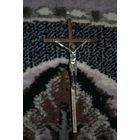 Католический крест/крестик из латуни на стену, - размер 15,5 см., - (б.у.) - культовая вещь-!