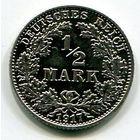 ГЕРМАНИЯ - 1/2 МАРКИ 1917 Е