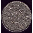 2 шиллинга 1956 год Великобритания