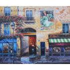 Картина маслом 145 французский дворик 50х60