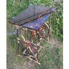 """Ретро в стиле техно! Ажурное чугунное литьё начала прошлого века - столик """"PFAFF"""" на колёсиках."""
