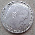 2 марки Германия 1938г. Гинденбург Двор В