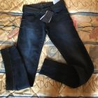 Zara джинсы с красивой отделкой ниже колена, размер 34 (XS)