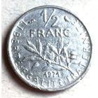 Франция, 1/2 франка 1971