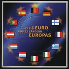 Двенадцать первых стран зоны ЕВРО. Набор одноевровых монет.