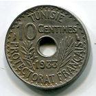 ТУНИС - 10 САНТИМ 1933