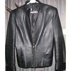 Куртка кожаная черная женская приталенная, 46 р-р (XXL)