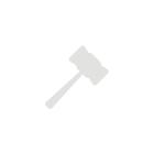 Красивый яркий красный ретро платок 90х90 см