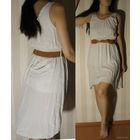 Платья летние, с ремешком (новые), размер M (цвета белый и бежевый)  Состав: хлопок 95%, эластан 5%