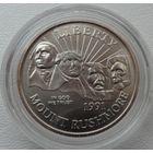США 1/2 доллар 1991 года. MOUNT RUSHMORE. Оригинальная капсула! Состояние UNC!