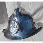 Каска никелированная, пожарная, середина прошлого века для начальствующего состава. С подшлемником.
