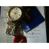 Часы ROMANSON,С браслетом,сапфир!D35mm!Позолочнный механизм!