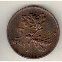 Турция 5 куруш 1968