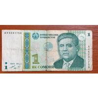 Таджикистан, 1 сомони (образца 1999 года) AV
