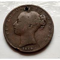 Остров Мэн 1/2 пенни, 1839  2-2-19