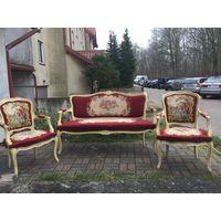 Гарнитур: 2 кресла и софа. Гобелен. Европа