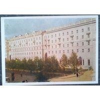 Минск. Жилые дома на улице Ленина. 1954 г. Чистая.
