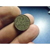 2 гроша 1927 г. Речь Посполита