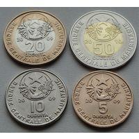 Мавритания. Набор 4 монеты 5,10,25,50 угий 2009 - 2010 года