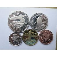 Барбадос комплект 5 монет 1974