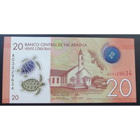 Никарагуа. 20 кордоба 2014 полимер [UNC]