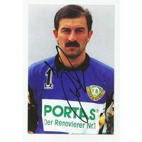 Станислав Черчесов(FC Dynamo Dresden, Германия). Живой автограф на фотографии.