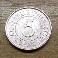 Маврикий 5 центов 2012