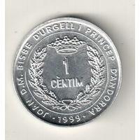 Андорра 1 сантим 1999 ФАО