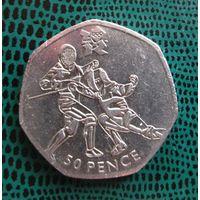 50 пенсов, Великобритания, 2011, Фехтование