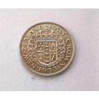 Новая Зеландия (Георг V) 1/2  кроны 1933 г.  серебро