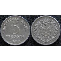 YS: Германия, 5 пфеннигов 1921D, KM# 19 (2)