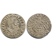 Грош 1538, Пруссия, Альберт Гогенцоллерн. Портрет с короткой бородой