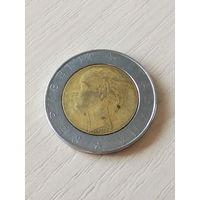 Италия 500 лир 1986г.