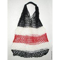 """Сетчатая сумка """"Чёрно-Бело-Красная"""""""