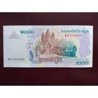 Камбоджа 1000 риэлей 2007 UNC