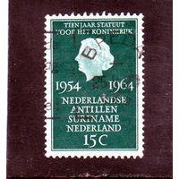Нидерланды.Ми-835.Королева Юлиана (1909-2004) Серия: Королевская Конституция.1964.