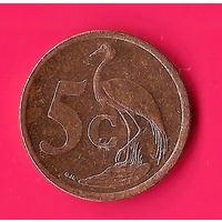 48-23 ЮАР, 5 центов 2008 г.