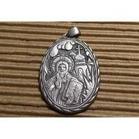 Образ Медальон.  Серебро. Царизм
