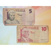 Нигерия 5 и 10 найра 2006 - 07гг.