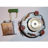 Электродвигатель КД-6-4 с деталями для запуска от магнитофона Сатурн 202