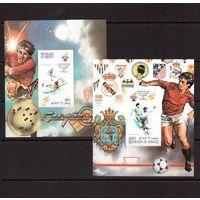 Джибути-1982 (Мих.Бл.30В-31В) ** БЗц , Спорт, ЧМ-1982 по футболу