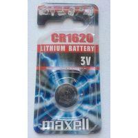 Батарейки 1620. Maxell, 3В. CR1620