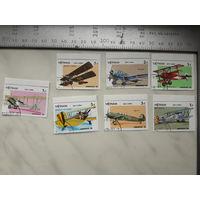 Марки Вьетнам Самолеты набор