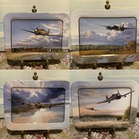 Тарелка коллекционная Самолеты Истребители каталог Bradex Англия цена за 2 шт винтаж