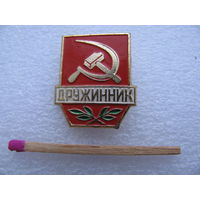 Знак-фрачник. Дружинник СССР (малый) редкий
