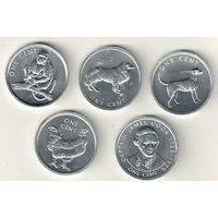 Острова Кука набор 5 монет по 1 цент 2003