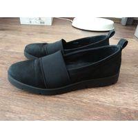 Туфли слипоны натуральная кожа нубук Ecco женские 38 размер